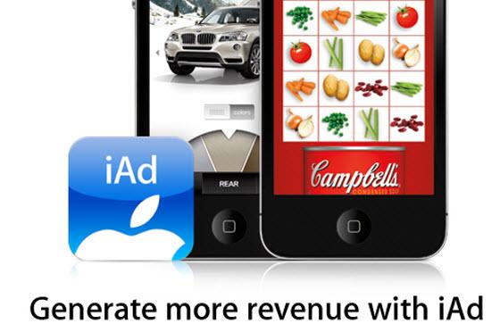 Apple aumenta del 10% le entrate degli sviluppatori tramite iAds