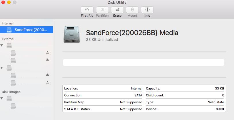 SandForce bug, but on a Mac, showing SandForce {200026BB}