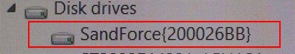 SandForce bug, showing as SandForce {200026BB}