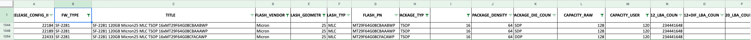 Find config id with secret document to unbrick SSD